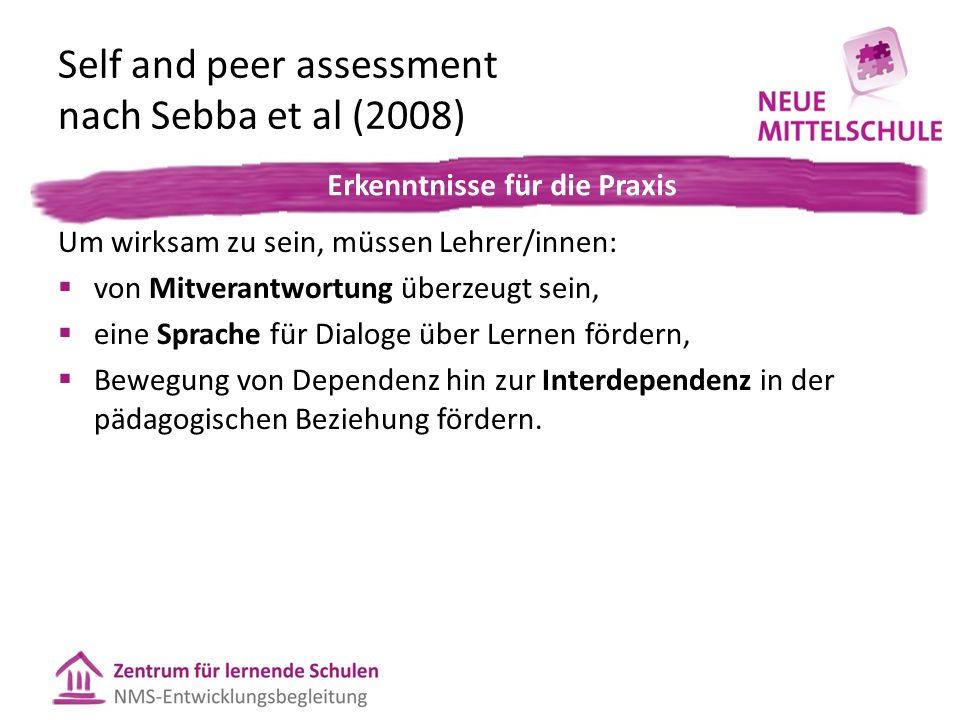 Feedback-Formen im Bezug zum Lernprozess 1.Where are you going.