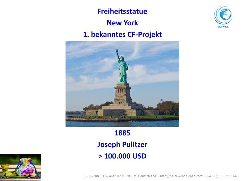 1885 Joseph Pulitzer > 100.000 USD Freiheitsstatue New York 1.