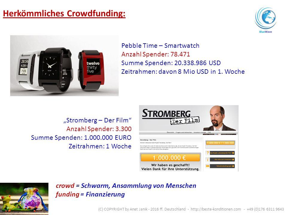Verbindet die Kraft des Crowdfunding mit der der Macht der Exponentialität.