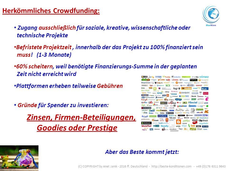 Immobilien.Neue Produkte. Unternehmens- gründung / Erweiterung.