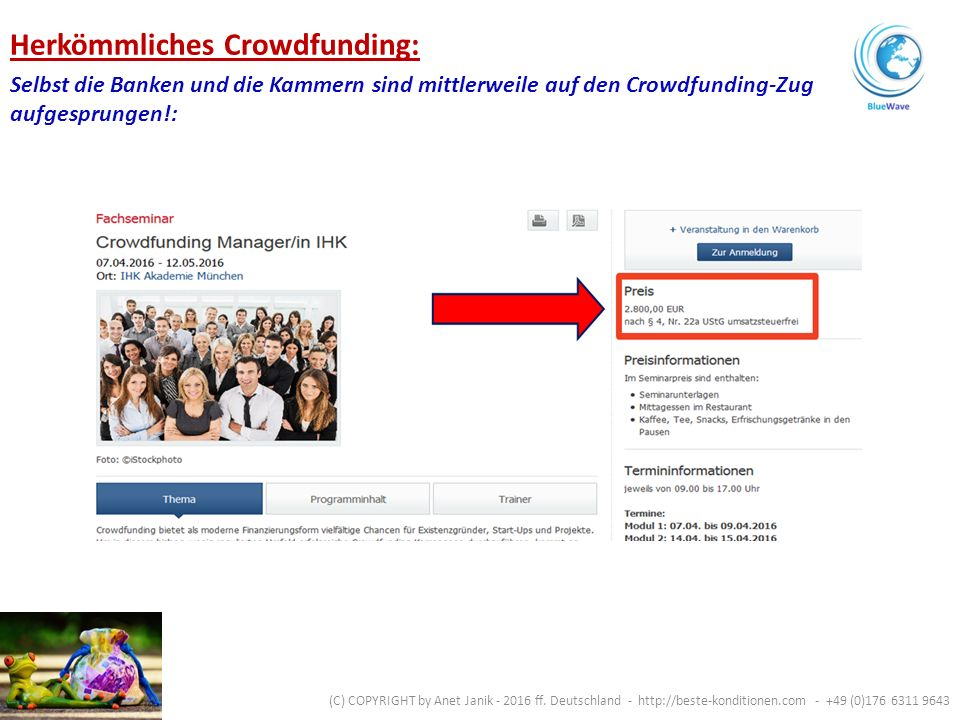 Soziale Projekte / Vereine.Unternehmens- gründung / Erweiterung.