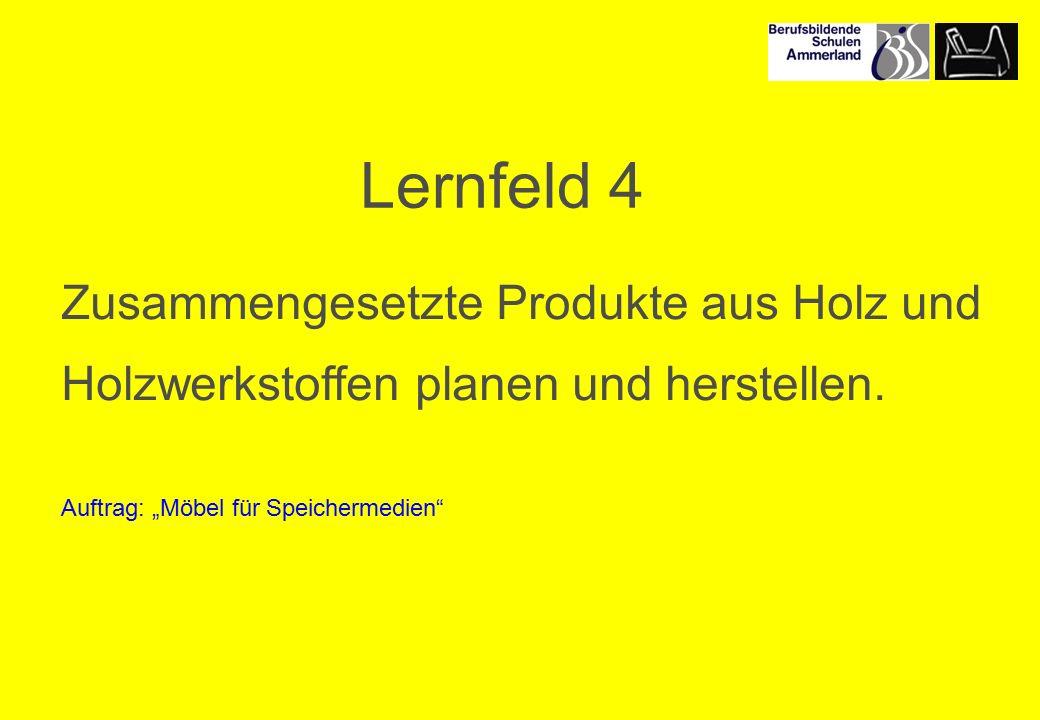 Lernfeld 4 Zusammengesetzte Produkte aus Holz und Holzwerkstoffen planen und herstellen.