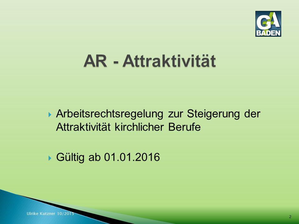  Altersversorgung  Arbeitsbefreiung  Einstufung bei Wechsel  Jahressonderzahlung  Sabbatjahr  Sonderurlaub Ulrike Kutzner 10/2015 3