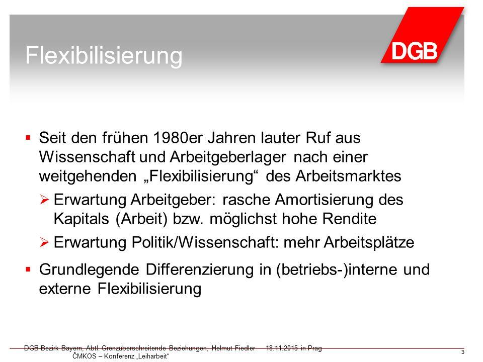 Zunehmende Bedeutung von Werkverträgen DGB-Bezirk Bayern, Abtl.