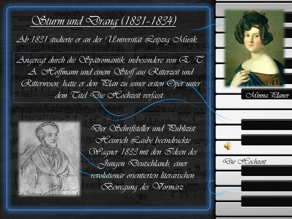 Erste Theatererfahrungen (1835–1841) Am 24.November 1836 heiratete er Minna Planer..
