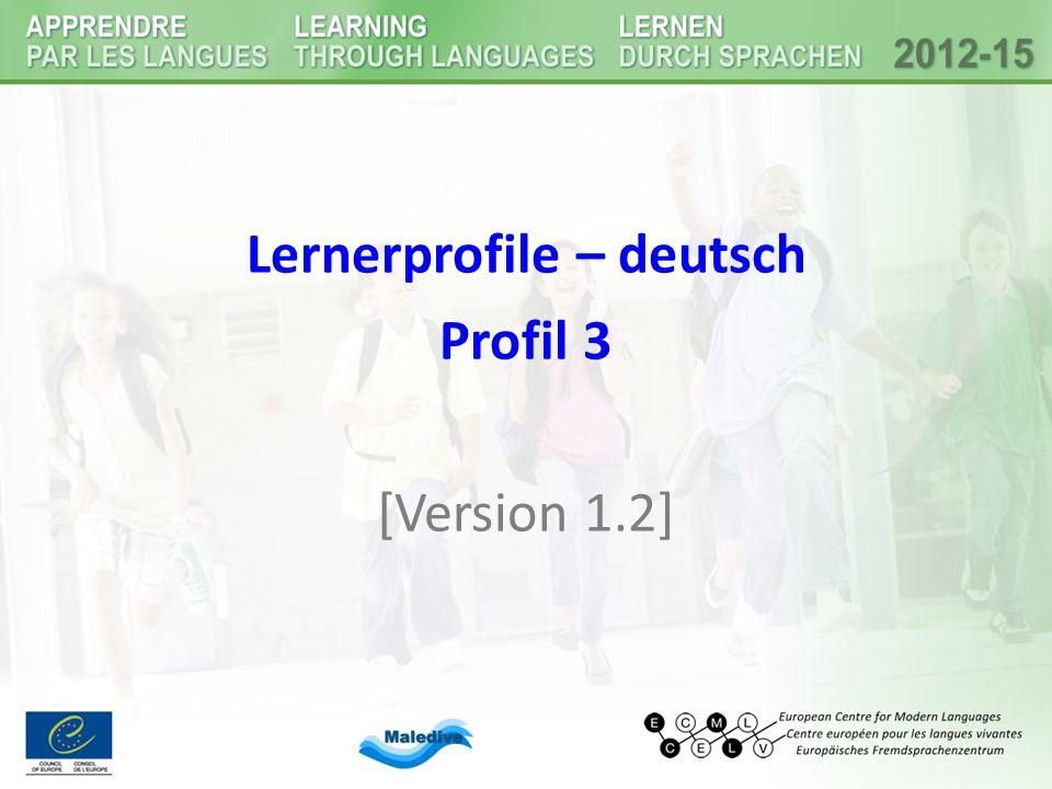 Lernerprofile – deutsch Profil 3 [Version 1.2]