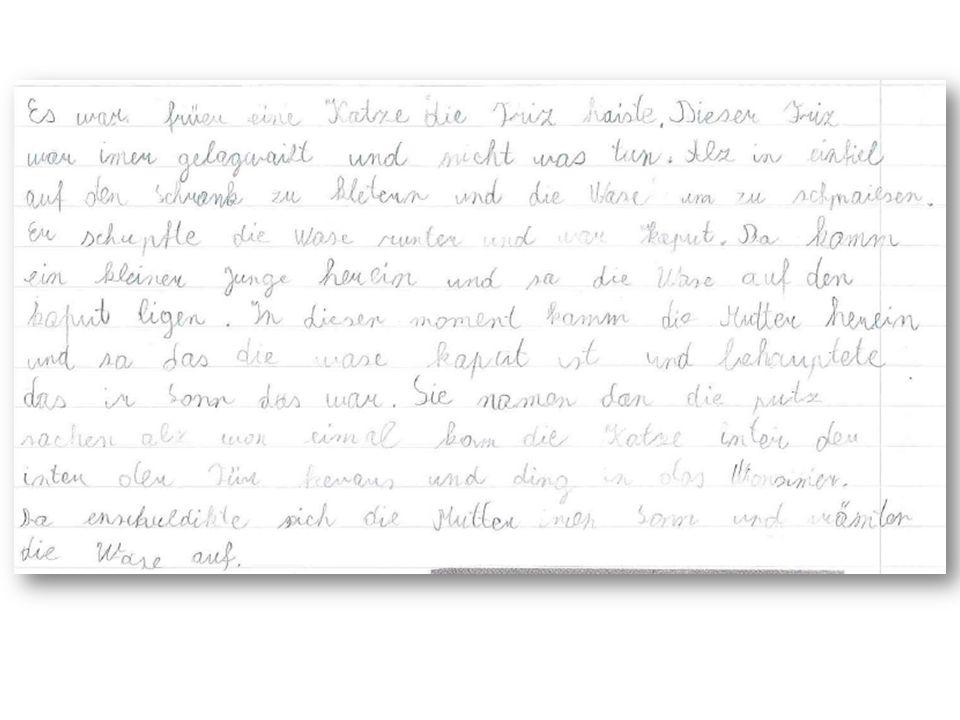 Wenn er schreibt … … auf Deutsch … Bildgeschichte: schriftlich, deutsch