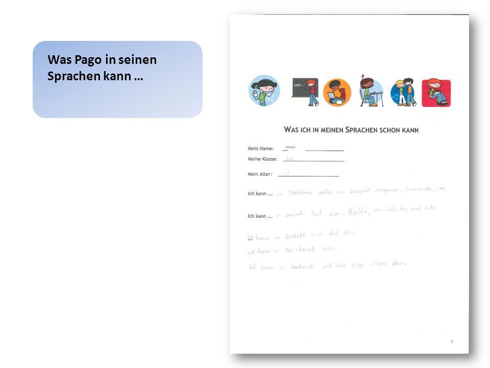 Wie Pago sein mehrsprachiges Repertoire darstellt …