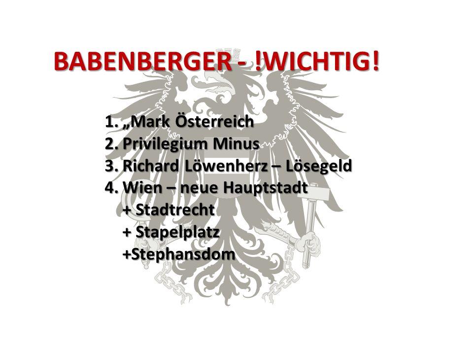 BABENBERGER - !WICHTIG.