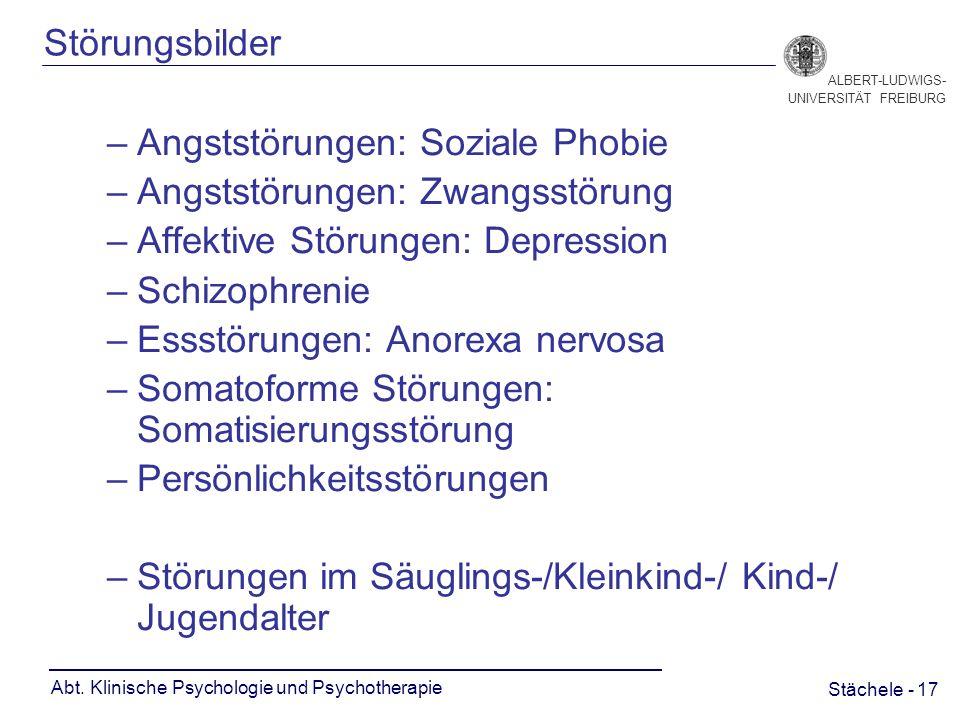 Stächele - 17 ALBERT-LUDWIGS- UNIVERSITÄT FREIBURG Abt.