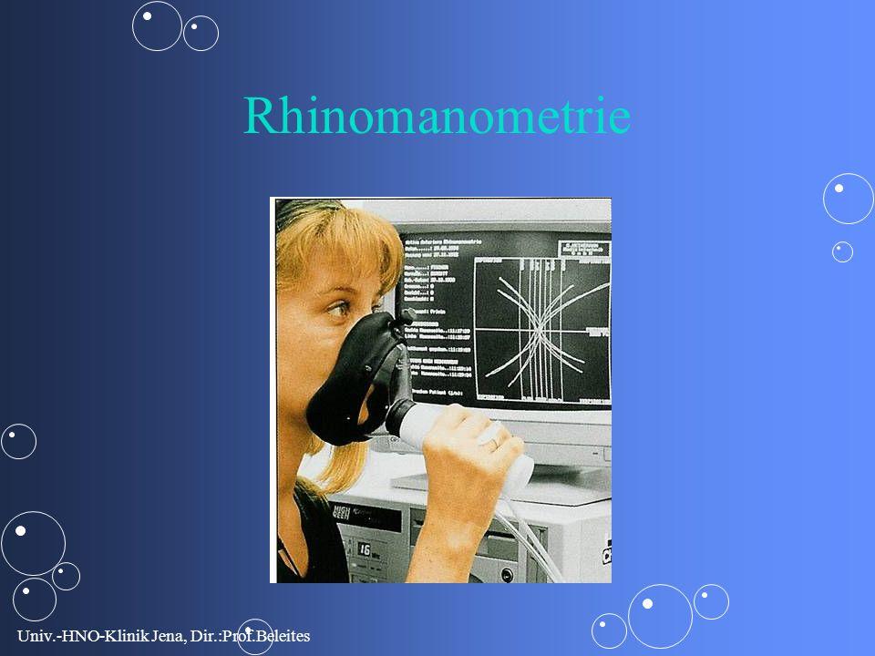 Univ.-HNO-Klinik Jena, Dir.:Prof.Beleites Rhinomanometrie