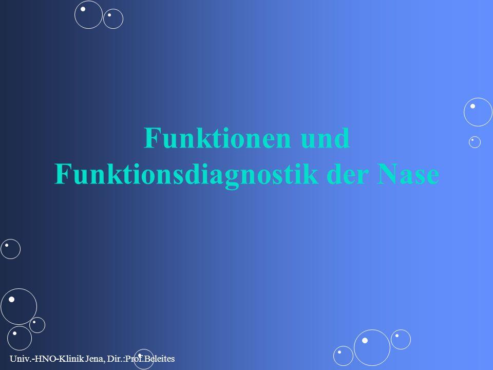 Univ.-HNO-Klinik Jena, Dir.:Prof.Beleites Subluxatio bei knöch. Schiefnase