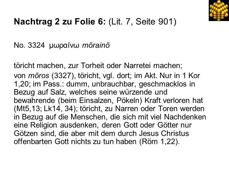 Nachtrag 2 zu Folie 6: (Lit. 7, Seite 901) No.