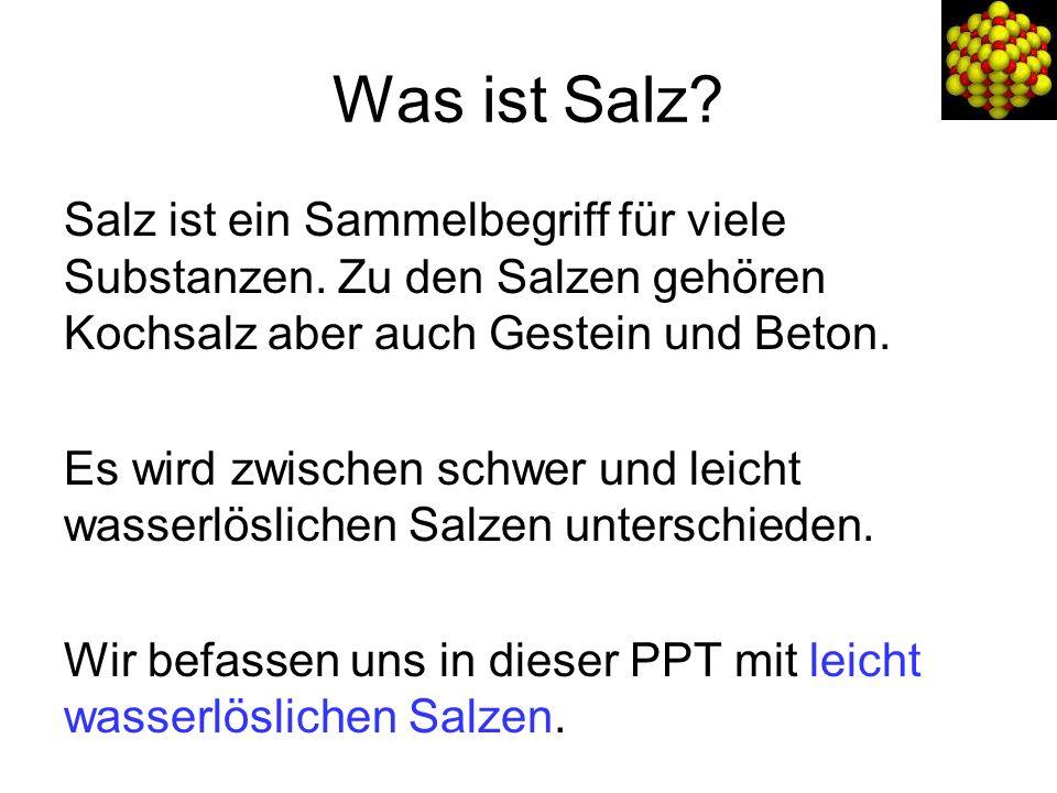 Was ist Salz? Periodensystem der Elemente