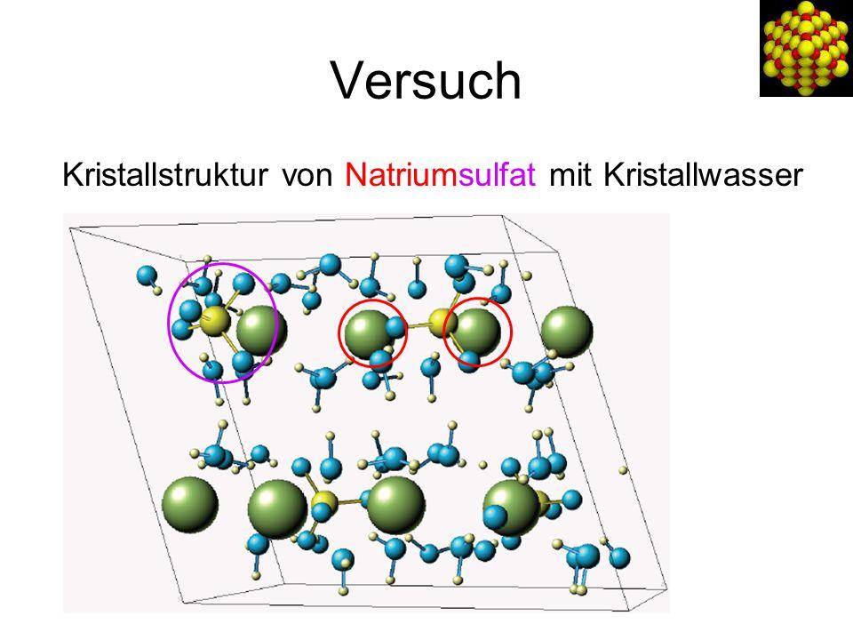 Versuch Kristallstruktur von Natriumsulfat mit Kristallwasser
