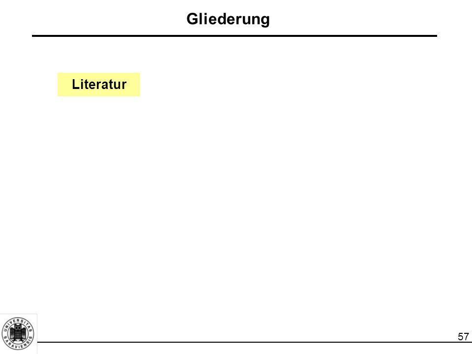 57 Literatur Gliederung