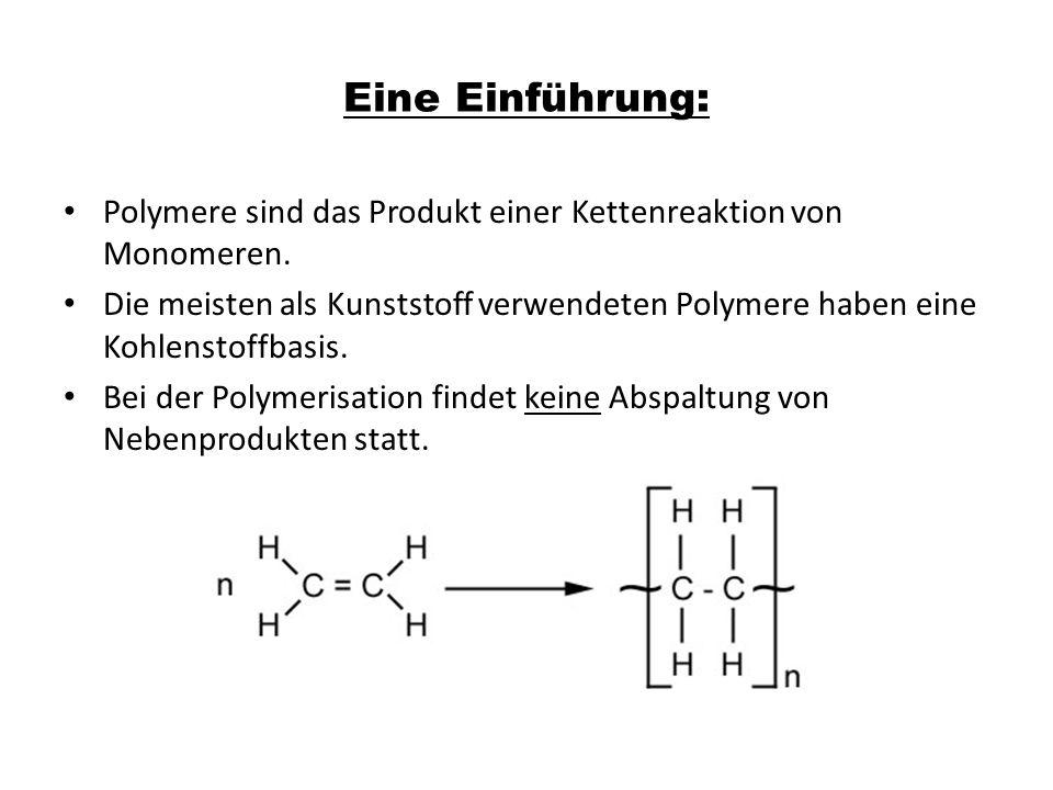 Eine Einführung: Polymere sind das Produkt einer Kettenreaktion von Monomeren.