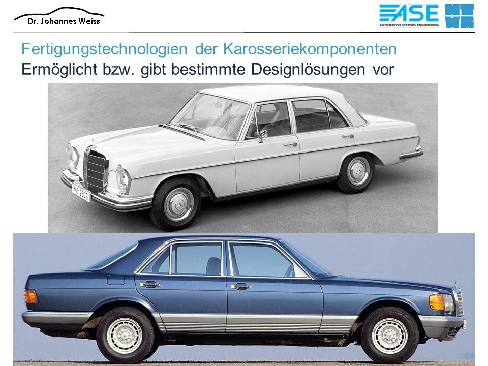 SS 20165 Fertigungstechnologien der Karosseriekomponenten6 Fertigungstechnologien der Karosseriekomponenten Ermöglicht bzw.