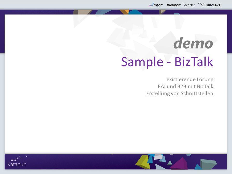 demo Sample - BizTalk existierende Lösung EAI und B2B mit BizTalk Erstellung von Schnittstellen