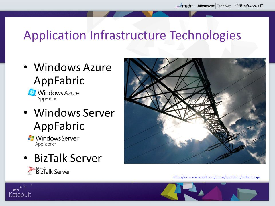 Application Infrastructure Technologies - Übersicht Chappell, 2010