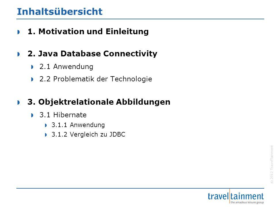 © 2012 TravelTainment Inhaltsübersicht  1. Motivation und Einleitung  2.