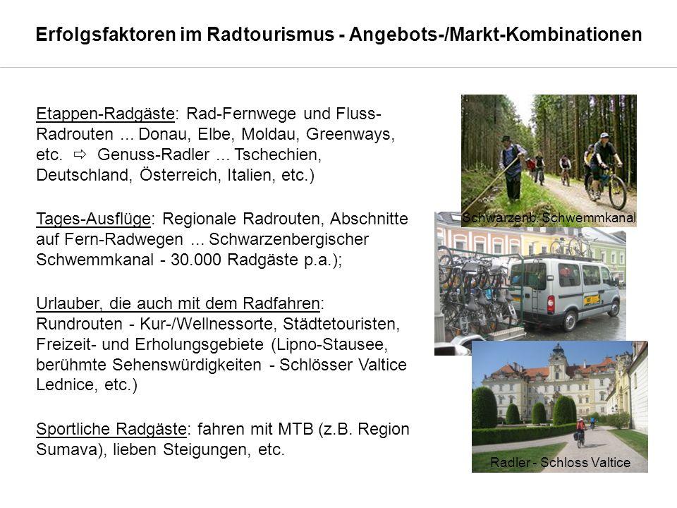 Erfolgsfaktoren im Radtourismus - Angebots-/Markt-Kombinationen Etappen-Radgäste: Rad-Fernwege und Fluss- Radrouten...