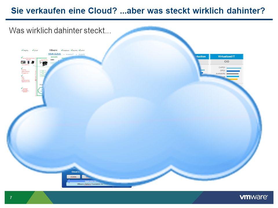 7 Sie verkaufen eine Cloud ...aber was steckt wirklich dahinter Was wirklich dahinter steckt... +