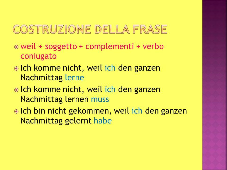 Seguono frasi che contengono verbi come: sagen wissen fragen verstehen Come tutte le secondarie hanno il verbo coniugato alla fine della frase Wo liegt das Hotel.