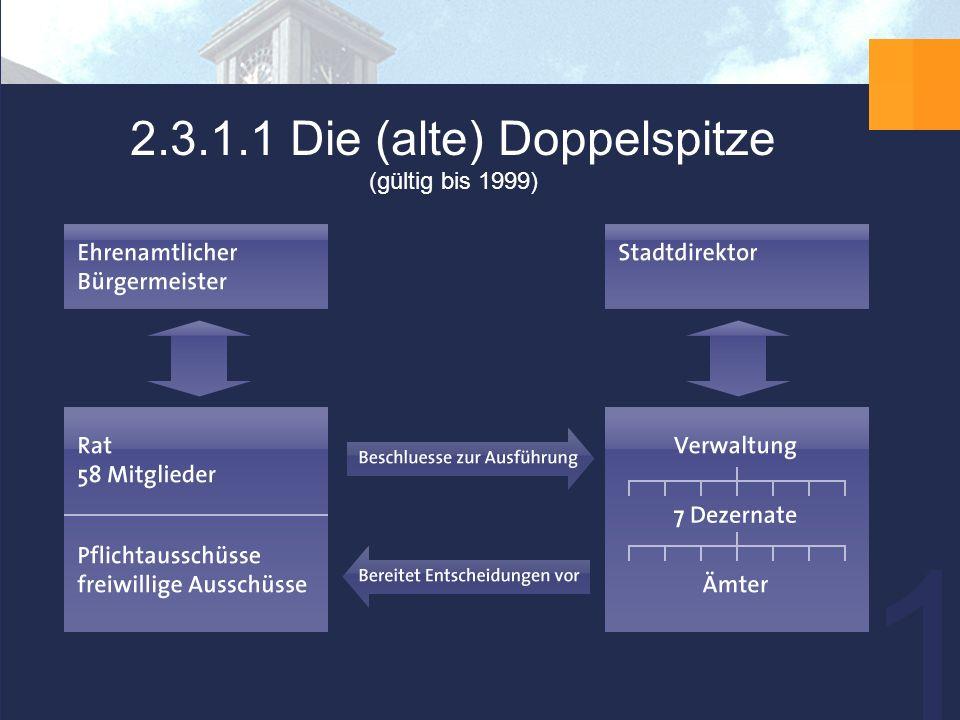 14 2.3.1.1 Die (alte) Doppelspitze (gültig bis 1999)