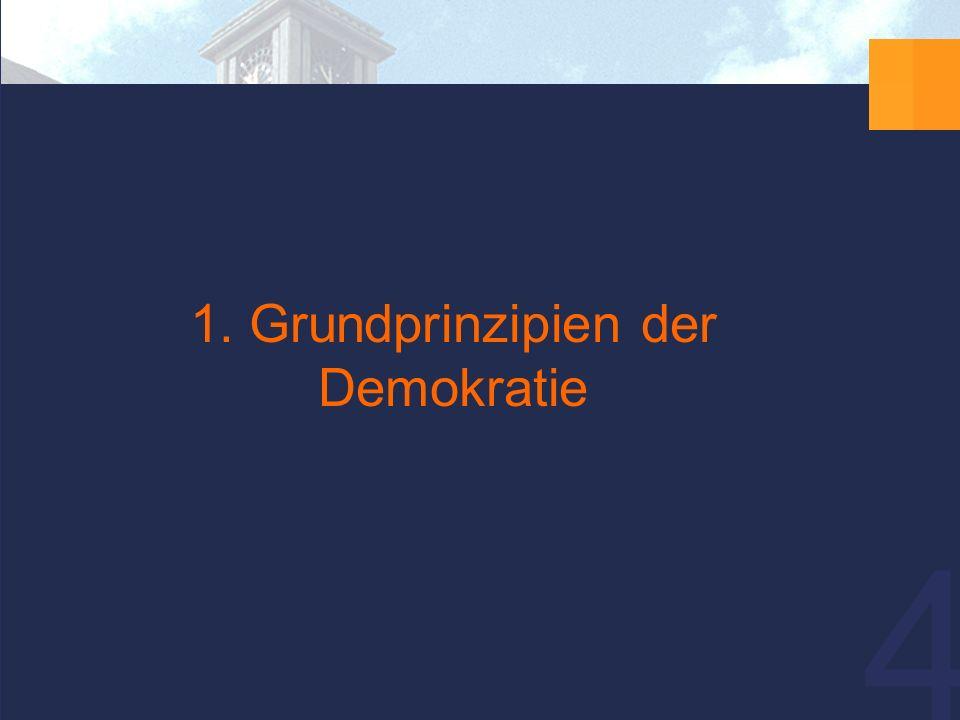 4 1. Grundprinzipien der Demokratie