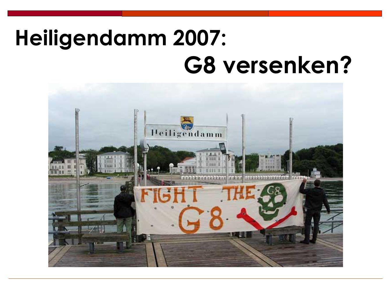 Heiligendamm 2007: G8 versenken