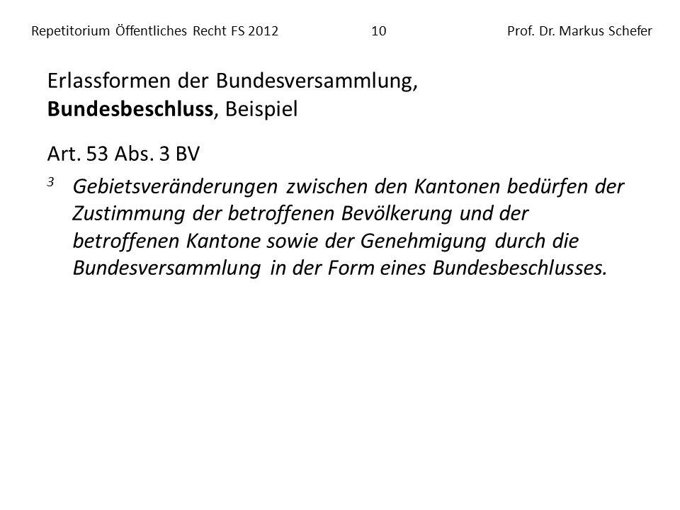 Repetitorium Öffentliches Recht FS 201210Prof. Dr.