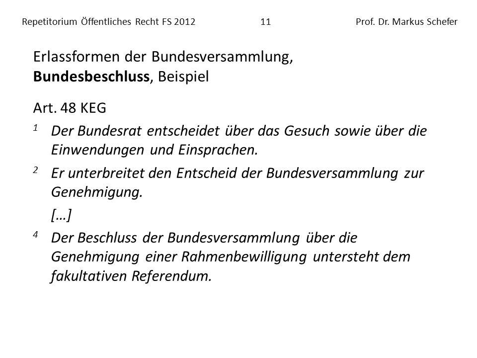 Repetitorium Öffentliches Recht FS 201211Prof. Dr.