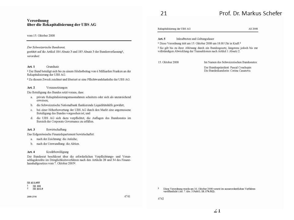 Repetitorium Öffentliches Recht FS 201221Prof. Dr. Markus Schefer 21