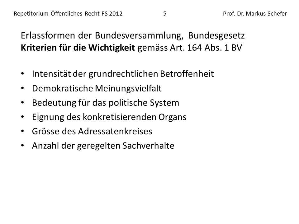 Repetitorium Öffentliches Recht FS 201216Prof.Dr.