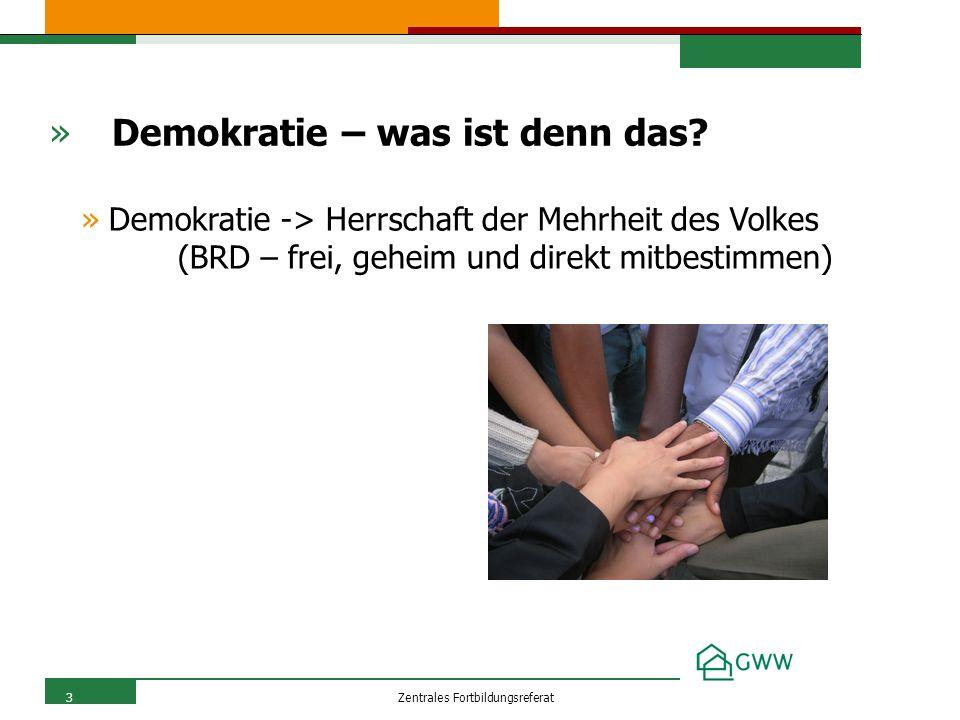 Zentrales Fortbildungsreferat3 » Demokratie – was ist denn das.