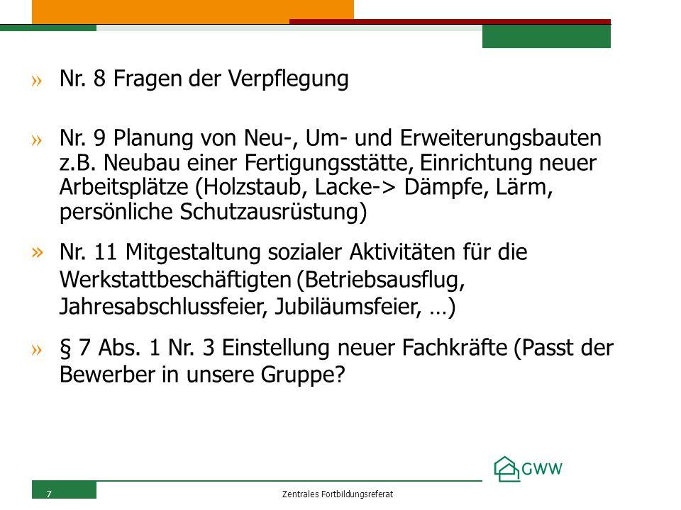 Zentrales Fortbildungsreferat7 » Nr. 8 Fragen der Verpflegung » Nr.