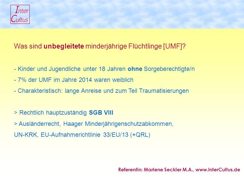 Was sind unbegleitete minderjährige Flüchtlinge [UMF].