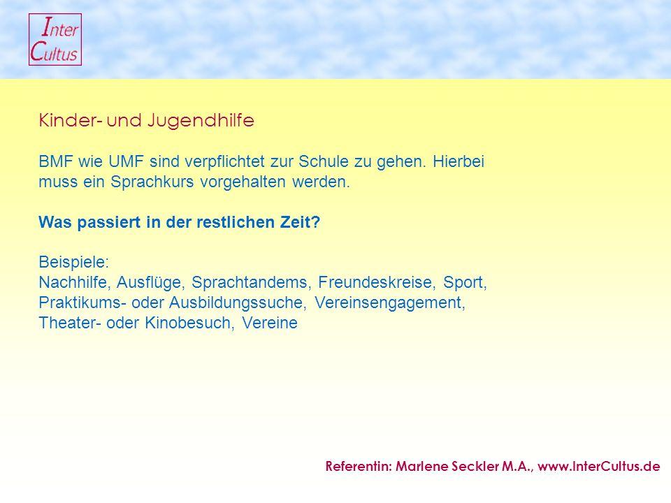 Kinder- und Jugendhilfe BMF wie UMF sind verpflichtet zur Schule zu gehen.