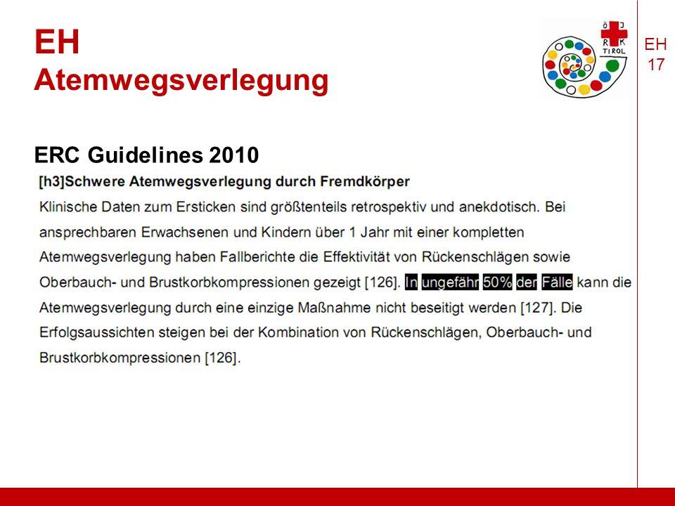 EH 17 EH Atemwegsverlegung ERC Guidelines 2010