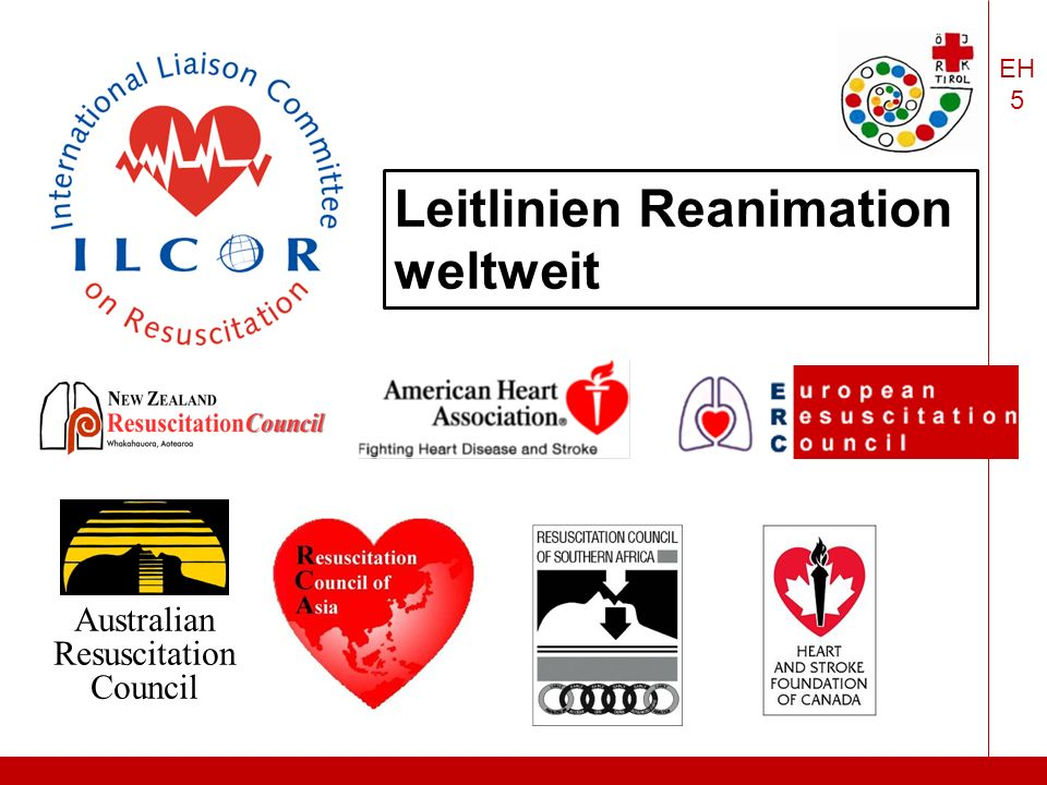 EH 5 Australian Resuscitation Council Leitlinien Reanimation weltweit