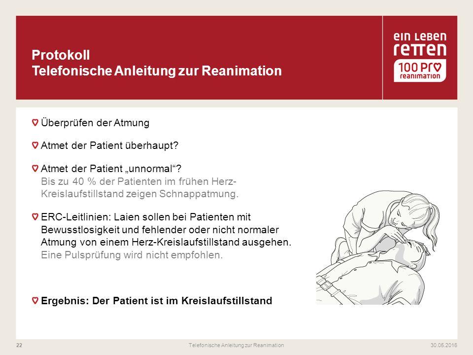 """Überprüfen der Atmung Atmet der Patient überhaupt? Atmet der Patient """"unnormal""""? Bis zu 40 % der Patienten im frühen Herz- Kreislaufstillstand zeigen"""