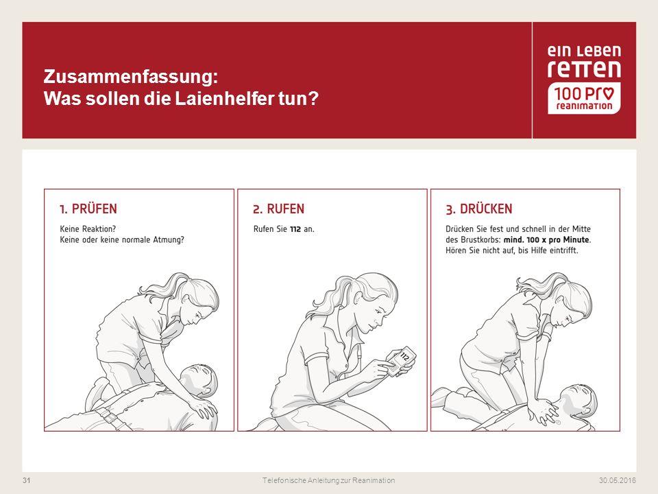 30.05.2016Telefonische Anleitung zur Reanimation31