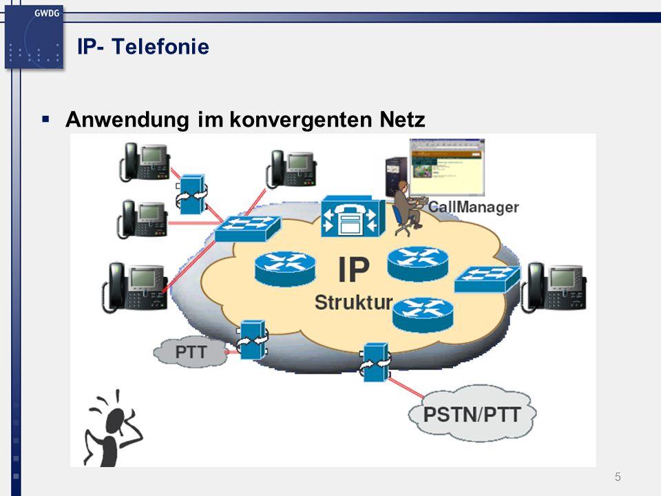 """26 VoIP-Migrationsmodell (GÖ) Auswahl einer Testumgebung  Entscheidung für eine """"offene VoIP-Lösung Cisco AVVID-Architektur (Architecture for Voice, Video and Integrated Data)."""