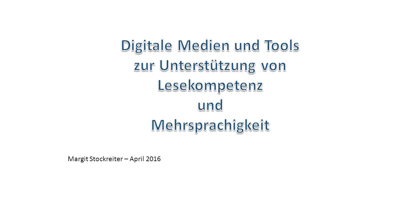 Lesen mit digitalen Geräten Stifung Lesen: deutsche Studie 2012 zum Vorlesen Hohe Akzeptanz als Ergänzung (90%) Väter motivierter Anreiz für Familien mit formal niedriger Bildung