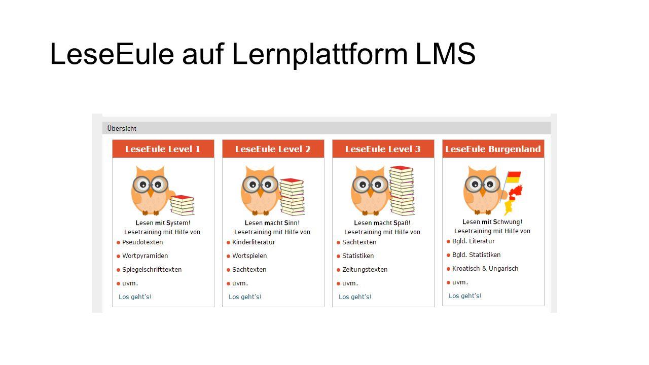 LeseEule auf Lernplattform LMS