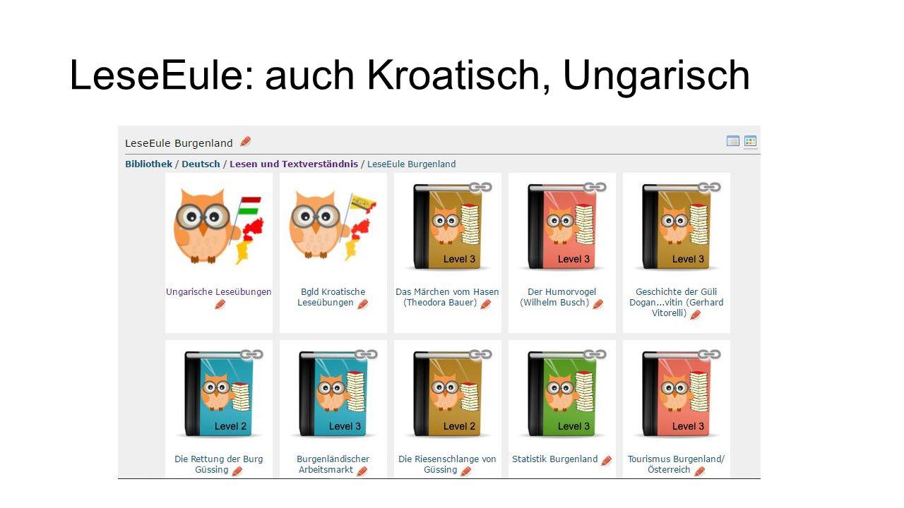 LeseEule: auch Kroatisch, Ungarisch