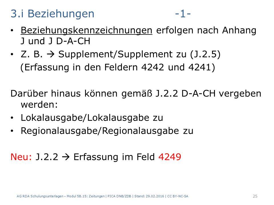 3.i Beziehungen-1- Beziehungskennzeichnungen erfolgen nach Anhang J und J D-A-CH Z.
