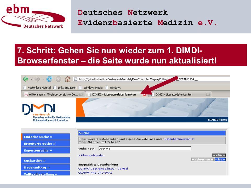 Deutsches Netzwerk Evidenzbasierte Medizin e.V. 7.