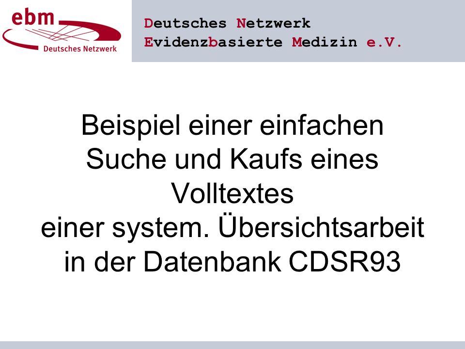 Deutsches Netzwerk Evidenzbasierte Medizin e.V.